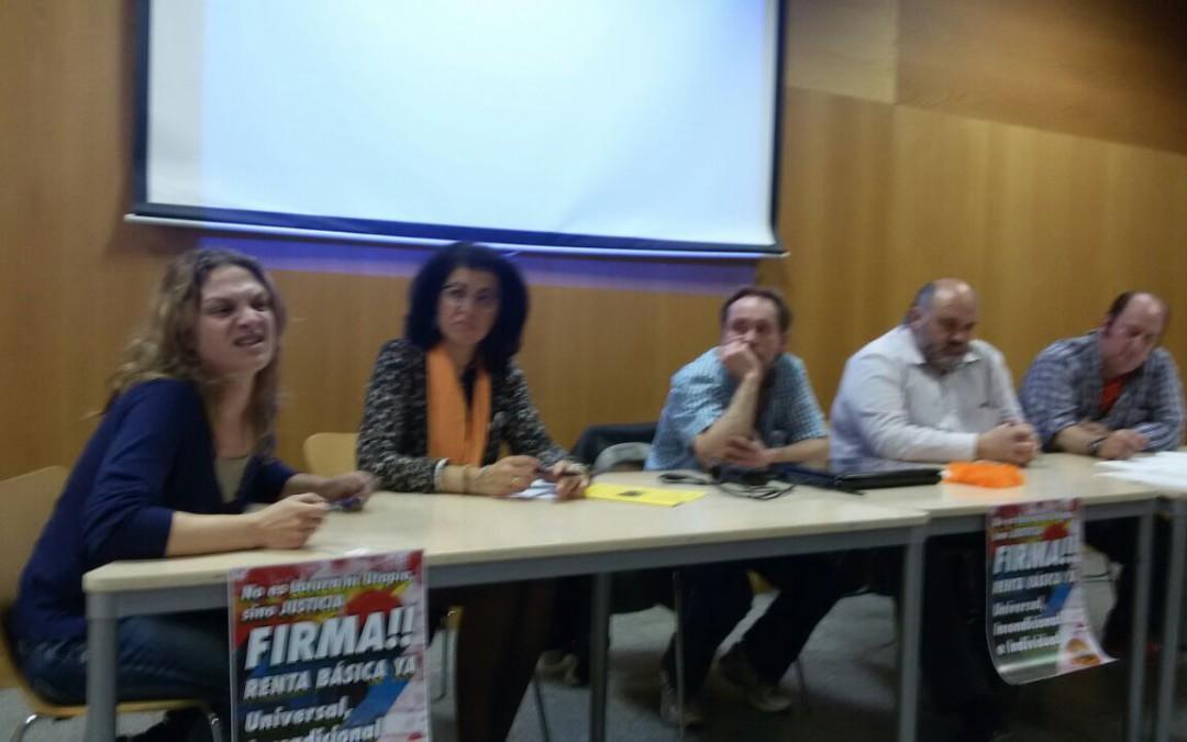 El equipo base del barrio madrileño de Lavapiés apoya la campaña por la Renta Básica
