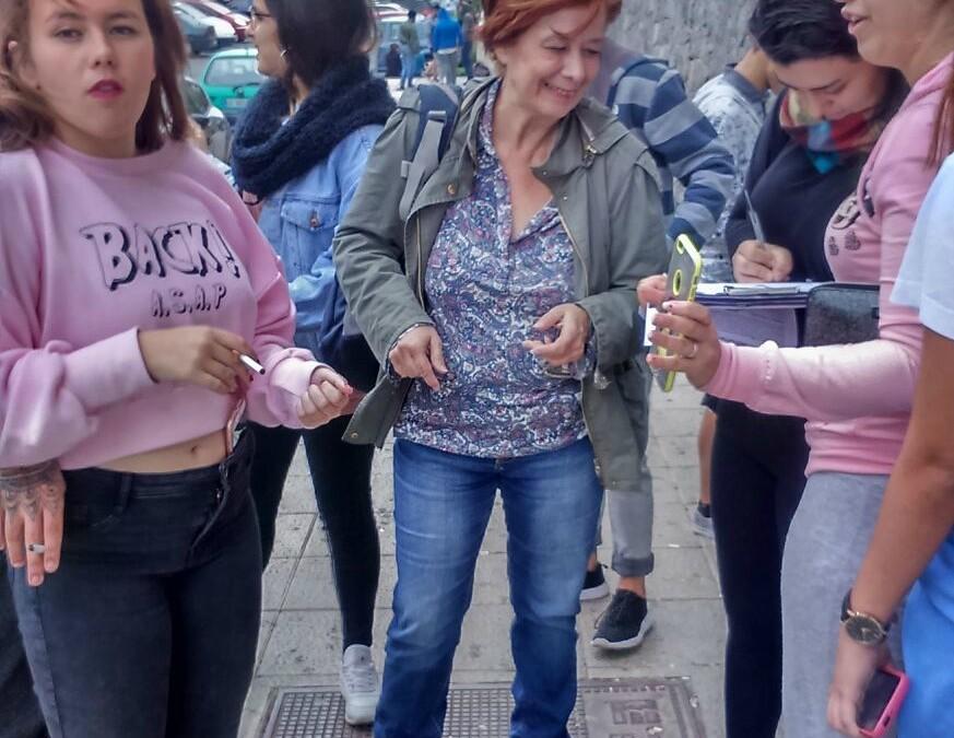 """El equipo base de Las Palmas de Gran Canaria se suma a la campaña """"Por un municipio sin pobreza"""""""