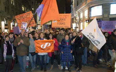 El Partido Humanista participó en las movilizaciones con motivo del Día Internacional de las Mujeres