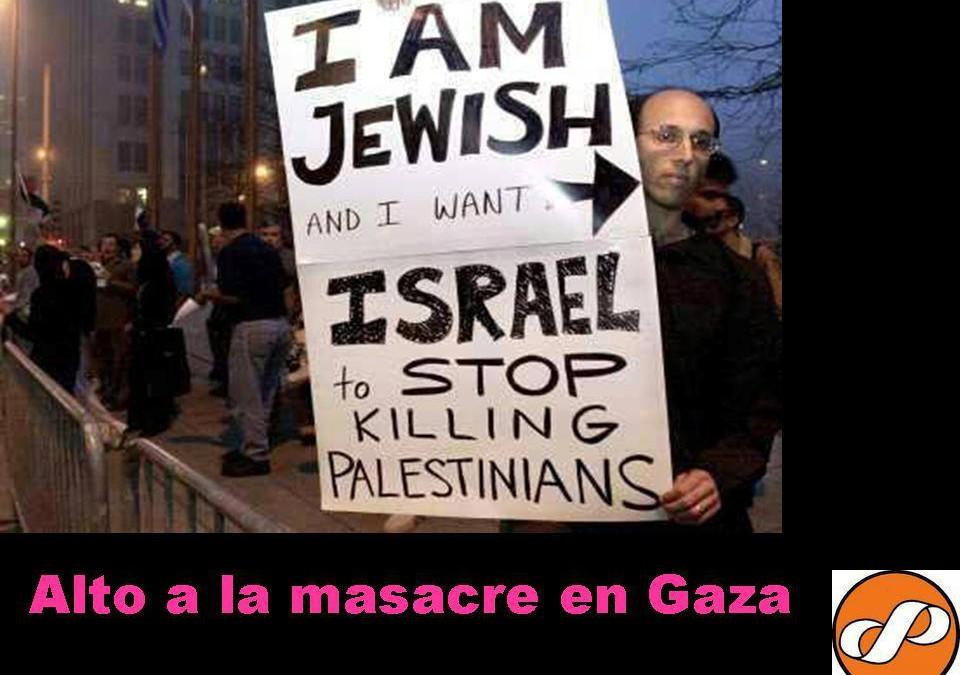 No a la violencia en Gaza. Basta de agresiones