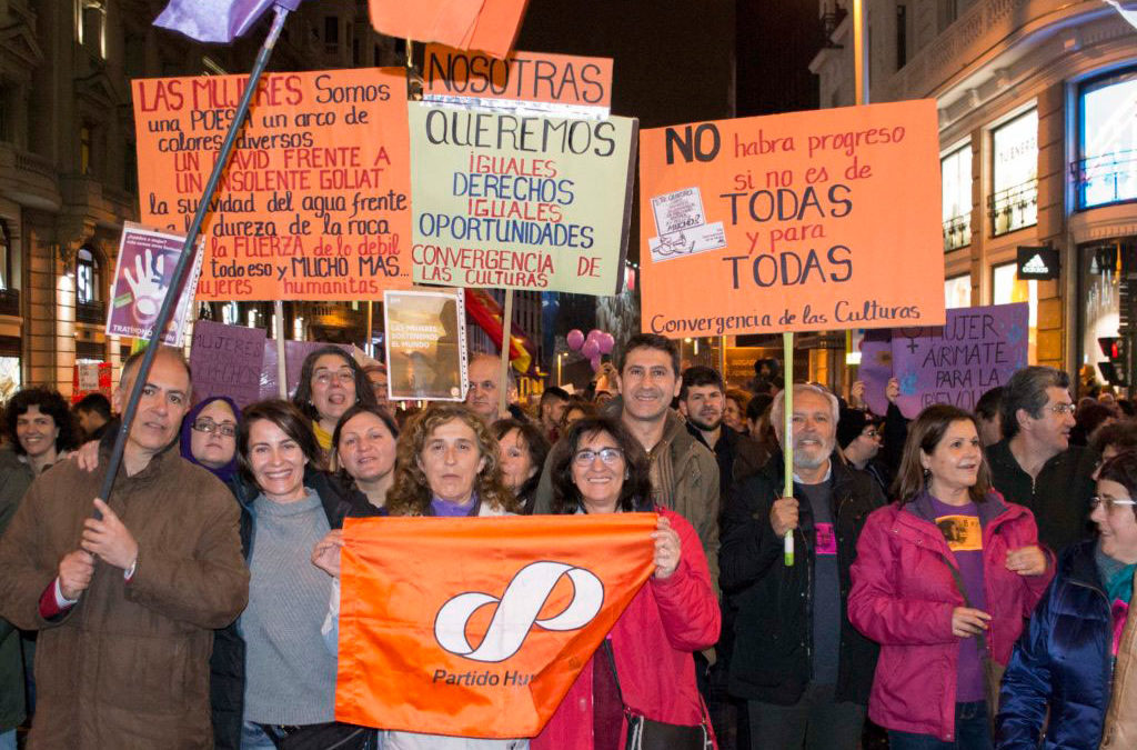 El Partido Humanista apoya la huelga de mujeres que se celebrará internacionalmente el 8 de marzo