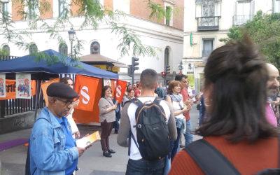 Acto de campaña del Partido Humanista en Madrid